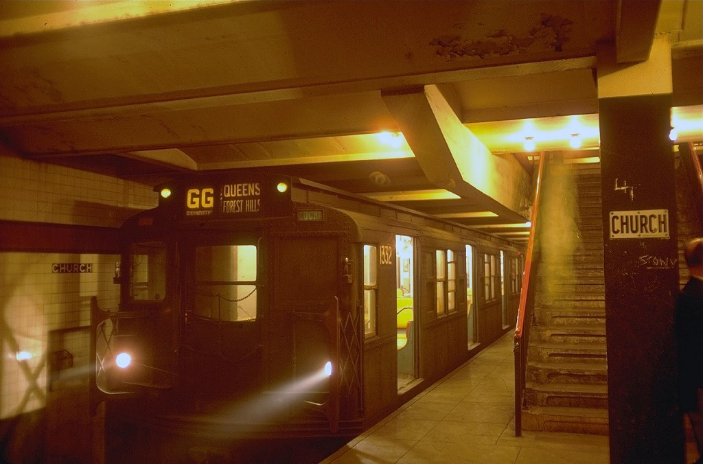 (158k, 1024x676)<br><b>Country:</b> United States<br><b>City:</b> New York<br><b>System:</b> New York City Transit<br><b>Line:</b> IND Crosstown Line<br><b>Location:</b> Church Avenue <br><b>Route:</b> GG<br><b>Car:</b> R-6-1 (Pressed Steel, 1936)  1332 <br><b>Photo by:</b> Doug Grotjahn<br><b>Collection of:</b> Joe Testagrose<br><b>Date:</b> 9/12/1976<br><b>Viewed (this week/total):</b> 2 / 5592