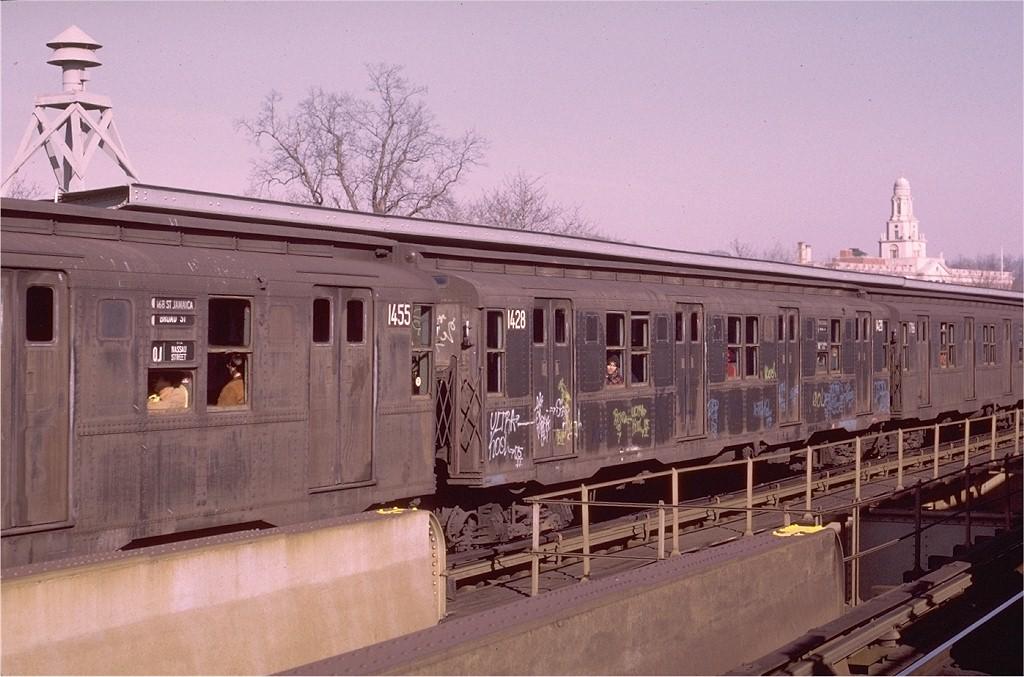 (186k, 1024x677)<br><b>Country:</b> United States<br><b>City:</b> New York<br><b>System:</b> New York City Transit<br><b>Line:</b> BMT Nassau Street/Jamaica Line<br><b>Location:</b> Cypress Hills <br><b>Route:</b> QJ<br><b>Car:</b> R-6-3 (American Car & Foundry, 1935)  1428 <br><b>Photo by:</b> Joe Testagrose<br><b>Date:</b> 12/3/1972<br><b>Viewed (this week/total):</b> 0 / 3930