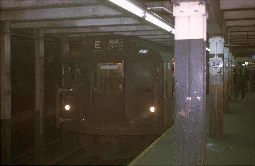 (128k, 1024x667)<br><b>Country:</b> United States<br><b>City:</b> New York<br><b>System:</b> New York City Transit<br><b>Line:</b> IND 8th Avenue Line<br><b>Location:</b> 34th Street/Penn Station <br><b>Route:</b> E<br><b>Car:</b> R-6-3 (American Car & Foundry, 1935)  935 <br><b>Photo by:</b> Joe Testagrose<br><b>Date:</b> 11/27/1970<br><b>Viewed (this week/total):</b> 6 / 5526