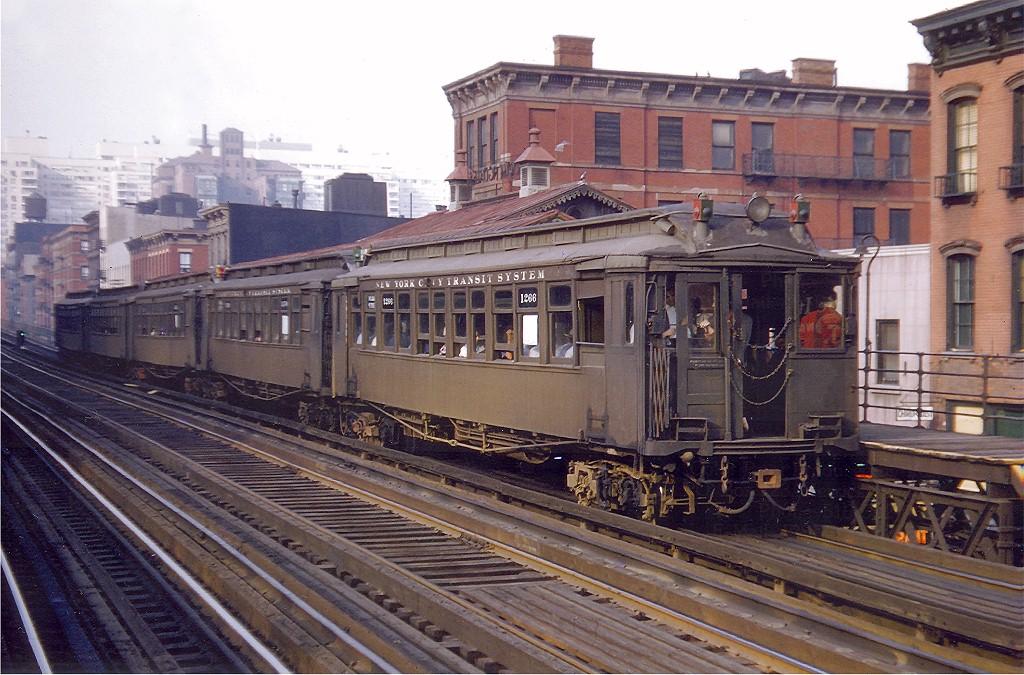 (231k, 1024x675)<br><b>Country:</b> United States<br><b>City:</b> New York<br><b>System:</b> New York City Transit<br><b>Line:</b> 3rd Avenue El<br><b>Location:</b> 59th Street <br><b>Car:</b> MUDC 1266 <br><b>Photo by:</b> Vincent Seyfried<br><b>Collection of:</b> Joe Testagrose<br><b>Date:</b> 5/12/1955<br><b>Viewed (this week/total):</b> 4 / 6611