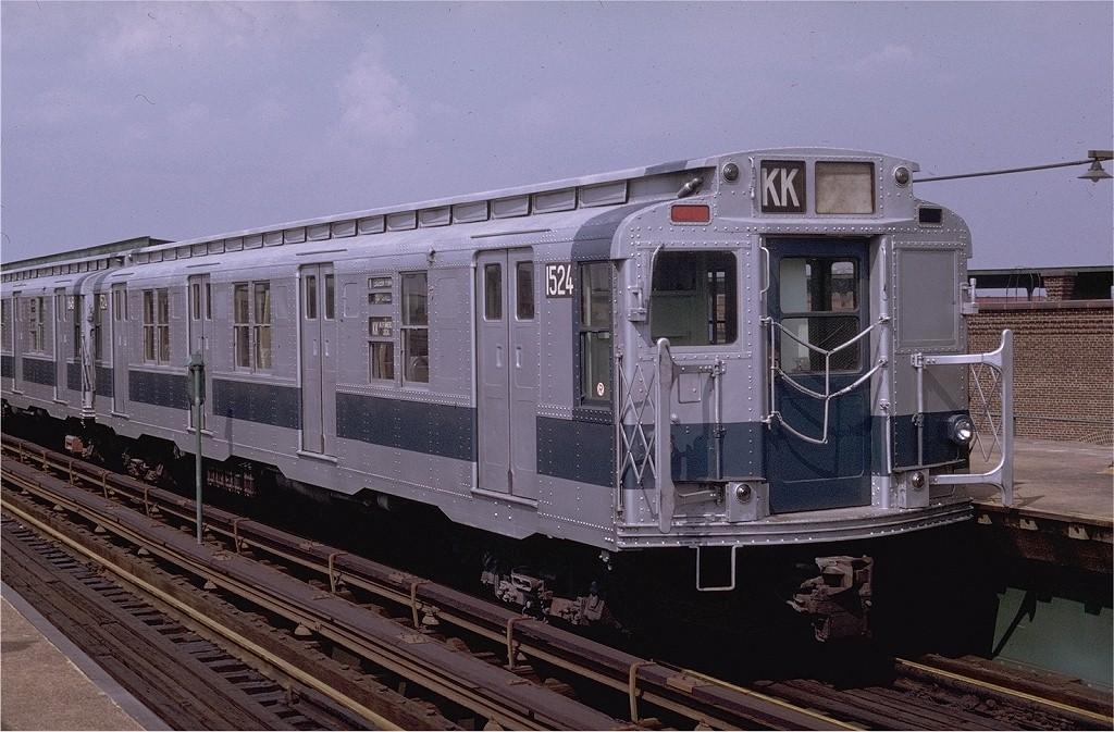 (214k, 1024x673)<br><b>Country:</b> United States<br><b>City:</b> New York<br><b>System:</b> New York City Transit<br><b>Line:</b> BMT Canarsie Line<br><b>Location:</b> Atlantic Avenue <br><b>Route:</b> L<br><b>Car:</b> R-7 (Pullman, 1937)  1524 <br><b>Photo by:</b> Doug Grotjahn<br><b>Collection of:</b> Joe Testagrose<br><b>Date:</b> 11/6/1976<br><b>Viewed (this week/total):</b> 3 / 3707