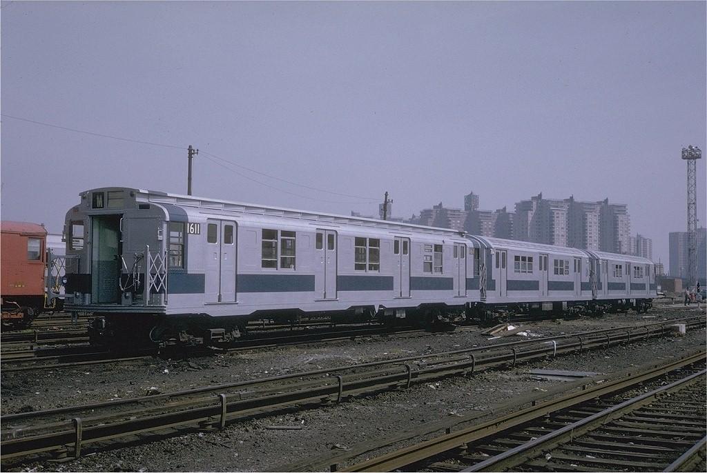 (208k, 1024x686)<br><b>Country:</b> United States<br><b>City:</b> New York<br><b>System:</b> New York City Transit<br><b>Location:</b> Coney Island Yard<br><b>Car:</b> R-7A (American Car & Foundry, 1938)  1611 <br><b>Collection of:</b> Joe Testagrose<br><b>Date:</b> 5/12/1971<br><b>Viewed (this week/total):</b> 2 / 3009