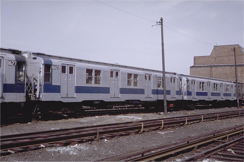(242k, 1024x680)<br><b>Country:</b> United States<br><b>City:</b> New York<br><b>System:</b> New York City Transit<br><b>Location:</b> Coney Island Yard<br><b>Car:</b> R-7A (American Car & Foundry, 1938)  1612 <br><b>Photo by:</b> Steve Zabel<br><b>Collection of:</b> Joe Testagrose<br><b>Date:</b> 4/13/1971<br><b>Viewed (this week/total):</b> 1 / 2799