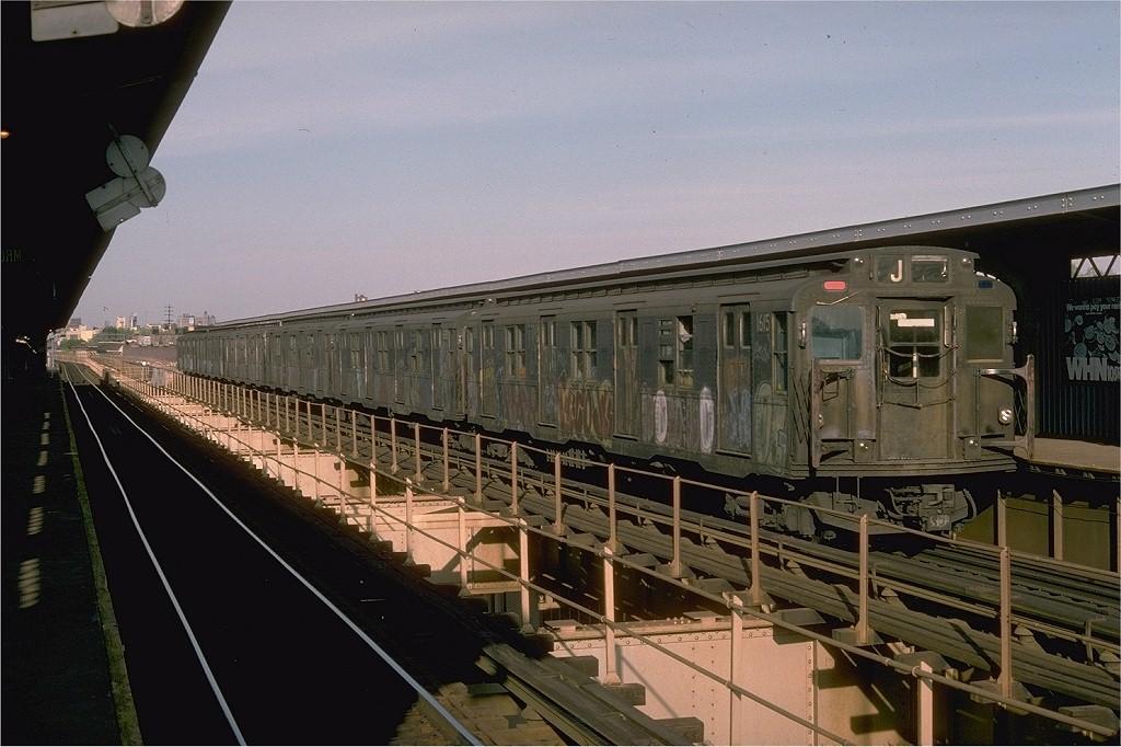 (193k, 1024x682)<br><b>Country:</b> United States<br><b>City:</b> New York<br><b>System:</b> New York City Transit<br><b>Line:</b> BMT Nassau Street/Jamaica Line<br><b>Location:</b> 121st Street <br><b>Route:</b> J<br><b>Car:</b> R-7A (American Car & Foundry, 1938)  1615 <br><b>Collection of:</b> Joe Testagrose<br><b>Date:</b> 5/8/1976<br><b>Viewed (this week/total):</b> 1 / 4609