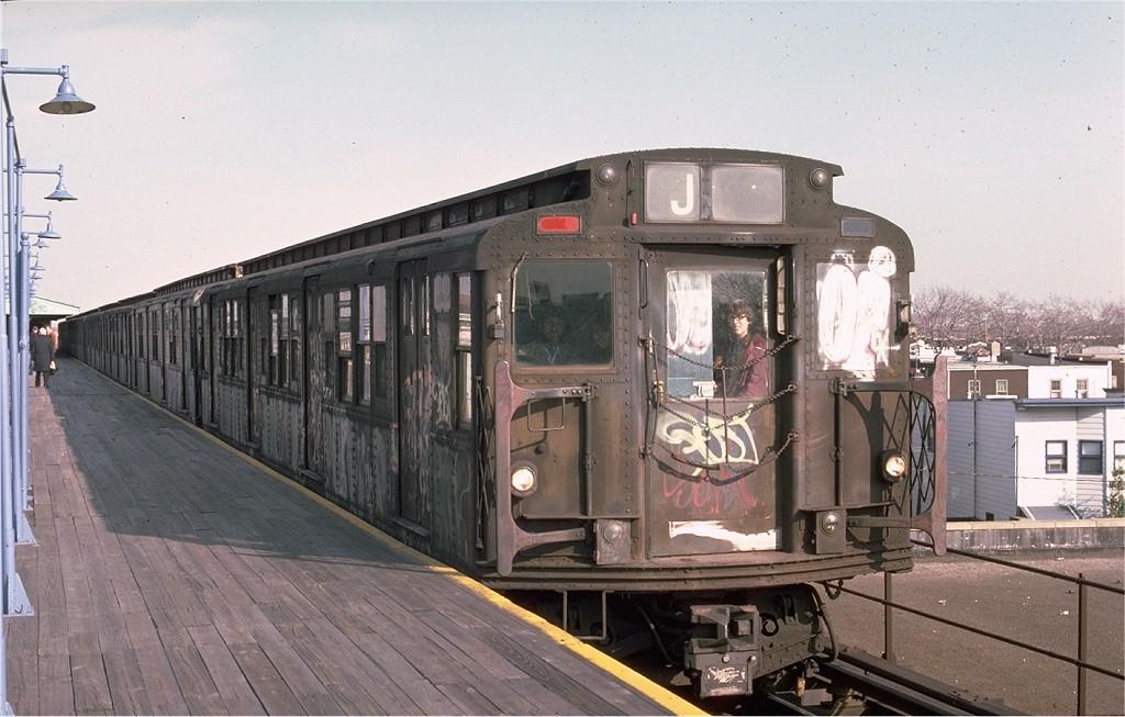 (183k, 1024x653)<br><b>Country:</b> United States<br><b>City:</b> New York<br><b>System:</b> New York City Transit<br><b>Line:</b> BMT Nassau Street/Jamaica Line<br><b>Location:</b> Crescent Street <br><b>Route:</b> J<br><b>Car:</b> R-7A (American Car & Foundry, 1938)  1632 <br><b>Photo by:</b> Ed McKernan<br><b>Collection of:</b> Joe Testagrose<br><b>Date:</b> 2/1976<br><b>Viewed (this week/total):</b> 2 / 4281