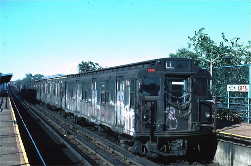 (156k, 1024x678)<br><b>Country:</b> United States<br><b>City:</b> New York<br><b>System:</b> New York City Transit<br><b>Line:</b> BMT Canarsie Line<br><b>Location:</b> New Lots Avenue <br><b>Route:</b> L<br><b>Car:</b> R-7A (American Car & Foundry, 1938)  1646 <br><b>Photo by:</b> Ed McKernan<br><b>Collection of:</b> Joe Testagrose<br><b>Date:</b> 10/18/1976<br><b>Viewed (this week/total):</b> 4 / 3782