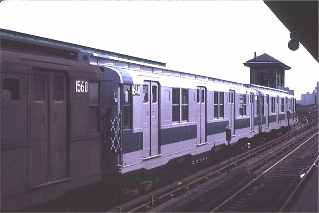 (117k, 1024x686)<br><b>Country:</b> United States<br><b>City:</b> New York<br><b>System:</b> New York City Transit<br><b>Line:</b> BMT Canarsie Line<br><b>Location:</b> Atlantic Avenue <br><b>Route:</b> L<br><b>Car:</b> R-7A (American Car & Foundry, 1938)  1648 <br><b>Photo by:</b> Joe Testagrose<br><b>Date:</b> 8/2/1970<br><b>Viewed (this week/total):</b> 0 / 2663