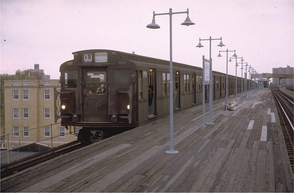 (178k, 1024x673)<br><b>Country:</b> United States<br><b>City:</b> New York<br><b>System:</b> New York City Transit<br><b>Line:</b> BMT Nassau Street/Jamaica Line<br><b>Location:</b> Alabama Avenue <br><b>Route:</b> QJ<br><b>Car:</b> R-9 (Pressed Steel, 1940)  1751 <br><b>Collection of:</b> Joe Testagrose<br><b>Date:</b> 11/14/1970<br><b>Viewed (this week/total):</b> 8 / 3849