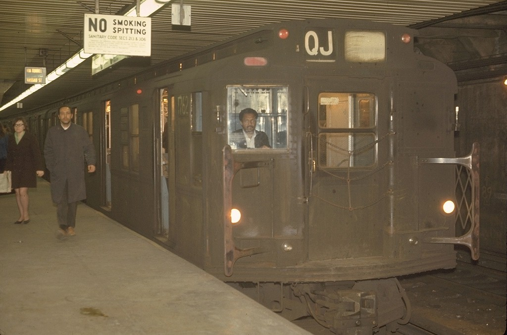 (149k, 1024x677)<br><b>Country:</b> United States<br><b>City:</b> New York<br><b>System:</b> New York City Transit<br><b>Location:</b> DeKalb Avenue<br><b>Route:</b> QJ<br><b>Car:</b> R-9 (Pressed Steel, 1940)  1762 <br><b>Photo by:</b> Joe Testagrose<br><b>Date:</b> 5/1/1970<br><b>Viewed (this week/total):</b> 0 / 4200