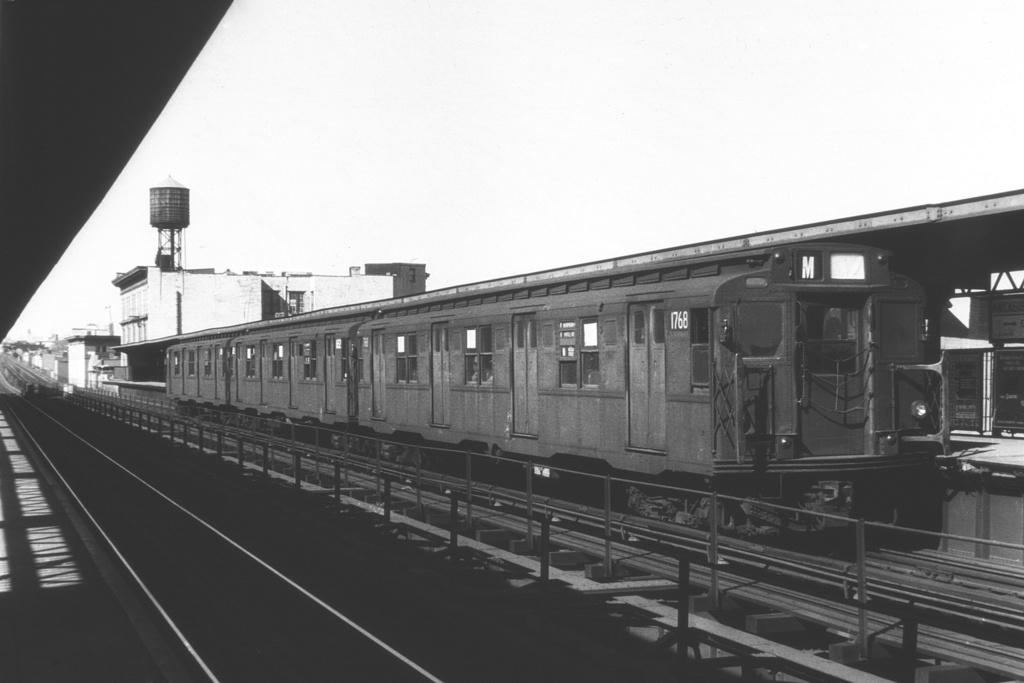 (175k, 1024x683)<br><b>Country:</b> United States<br><b>City:</b> New York<br><b>System:</b> New York City Transit<br><b>Line:</b> BMT Myrtle Avenue Line<br><b>Location:</b> Knickerbocker Avenue <br><b>Route:</b> M<br><b>Car:</b> R-9 (Pressed Steel, 1940)  1768 <br><b>Collection of:</b> David Pirmann<br><b>Viewed (this week/total):</b> 2 / 3535