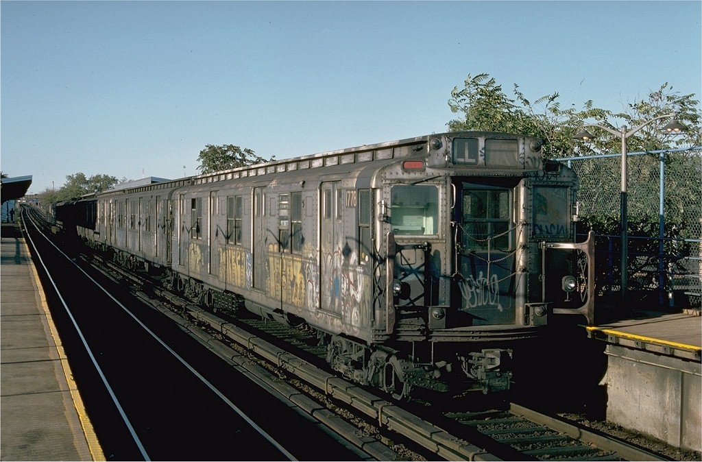 (205k, 1024x674)<br><b>Country:</b> United States<br><b>City:</b> New York<br><b>System:</b> New York City Transit<br><b>Line:</b> BMT Canarsie Line<br><b>Location:</b> New Lots Avenue <br><b>Route:</b> L<br><b>Car:</b> R-9 (Pressed Steel, 1940)  1778 <br><b>Photo by:</b> Ed McKernan<br><b>Collection of:</b> Joe Testagrose<br><b>Date:</b> 10/18/1976<br><b>Viewed (this week/total):</b> 0 / 3500