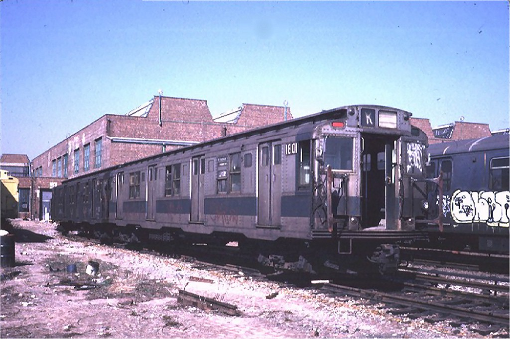 (184k, 1024x682)<br><b>Country:</b> United States<br><b>City:</b> New York<br><b>System:</b> New York City Transit<br><b>Location:</b> Coney Island Yard-Museum Yard<br><b>Car:</b> R-9 (Pressed Steel, 1940) 1801 <br><b>Photo by:</b> Steve Zabel<br><b>Collection of:</b> Joe Testagrose<br><b>Date:</b> 3/20/1974<br><b>Viewed (this week/total):</b> 1 / 8551