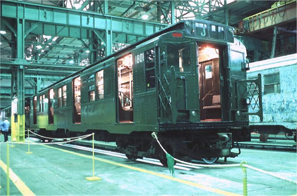 (189k, 1024x678)<br><b>Country:</b> United States<br><b>City:</b> New York<br><b>System:</b> New York City Transit<br><b>Location:</b> Coney Island Shop/Overhaul & Repair Shop<br><b>Car:</b> R-9 (Pressed Steel, 1940)  1801 <br><b>Photo by:</b> Doug Grotjahn<br><b>Collection of:</b> Joe Testagrose<br><b>Date:</b> 10/13/1979<br><b>Viewed (this week/total):</b> 3 / 7098