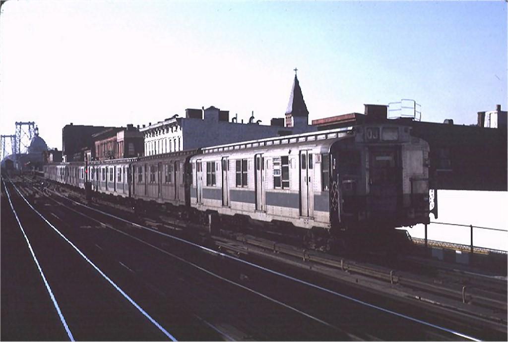 (119k, 1024x690)<br><b>Country:</b> United States<br><b>City:</b> New York<br><b>System:</b> New York City Transit<br><b>Line:</b> BMT Nassau Street/Jamaica Line<br><b>Location:</b> Hewes Street <br><b>Route:</b> QJ<br><b>Car:</b> R-9 (Pressed Steel, 1940)  1801 <br><b>Photo by:</b> Joe Testagrose<br><b>Date:</b> 3/27/1971<br><b>Viewed (this week/total):</b> 3 / 2942