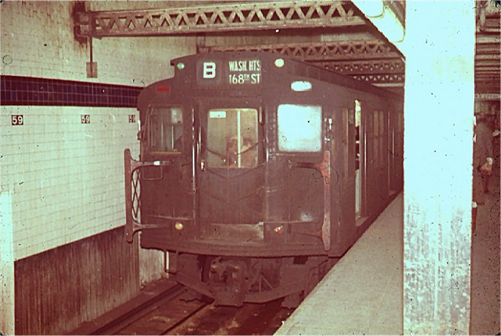 (159k, 1024x687)<br><b>Country:</b> United States<br><b>City:</b> New York<br><b>System:</b> New York City Transit<br><b>Line:</b> IND 8th Avenue Line<br><b>Location:</b> 59th Street/Columbus Circle <br><b>Route:</b> B<br><b>Car:</b> R-1/R-9 Series   <br><b>Collection of:</b> Joe Testagrose<br><b>Viewed (this week/total):</b> 0 / 3123