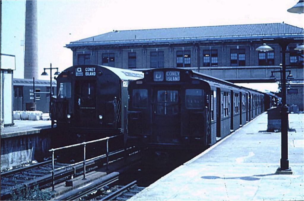 (160k, 1024x677)<br><b>Country:</b> United States<br><b>City:</b> New York<br><b>System:</b> New York City Transit<br><b>Location:</b> Coney Island/Stillwell Avenue<br><b>Route:</b> D<br><b>Car:</b> R-1/R-9 Series   <br><b>Collection of:</b> Joe Testagrose<br><b>Date:</b> 7/1961<br><b>Viewed (this week/total):</b> 0 / 3660