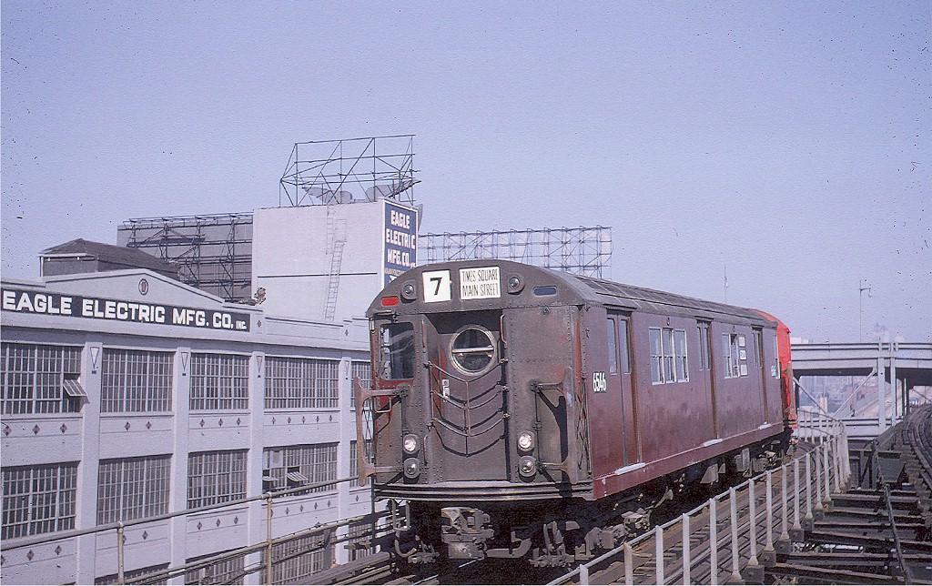 (248k, 1024x644)<br><b>Country:</b> United States<br><b>City:</b> New York<br><b>System:</b> New York City Transit<br><b>Line:</b> IRT Flushing Line<br><b>Location:</b> Queensborough Plaza <br><b>Route:</b> 7<br><b>Car:</b> R-17 (St. Louis, 1955-56) 6546 <br><b>Collection of:</b> Joe Testagrose<br><b>Date:</b> 6/4/1964<br><b>Viewed (this week/total):</b> 2 / 4906
