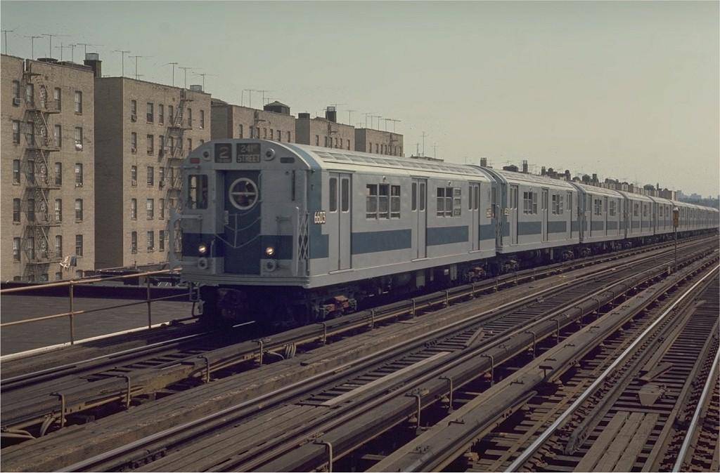 (178k, 1024x674)<br><b>Country:</b> United States<br><b>City:</b> New York<br><b>System:</b> New York City Transit<br><b>Line:</b> IRT White Plains Road Line<br><b>Location:</b> Pelham Parkway <br><b>Route:</b> 2<br><b>Car:</b> R-17 (St. Louis, 1955-56) 6603 <br><b>Photo by:</b> Joe Testagrose<br><b>Date:</b> 4/26/1970<br><b>Viewed (this week/total):</b> 5 / 3330