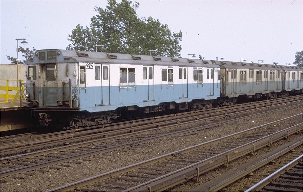 (221k, 1024x648)<br><b>Country:</b> United States<br><b>City:</b> New York<br><b>System:</b> New York City Transit<br><b>Line:</b> IND Rockaway<br><b>Location:</b> Aqueduct/North Conduit Avenue <br><b>Route:</b> A<br><b>Car:</b> R-10 (American Car & Foundry, 1948) 2992 (ex-1845)<br><b>Photo by:</b> Doug Grotjahn<br><b>Collection of:</b> Joe Testagrose<br><b>Date:</b> 7/17/1971<br><b>Viewed (this week/total):</b> 1 / 3845