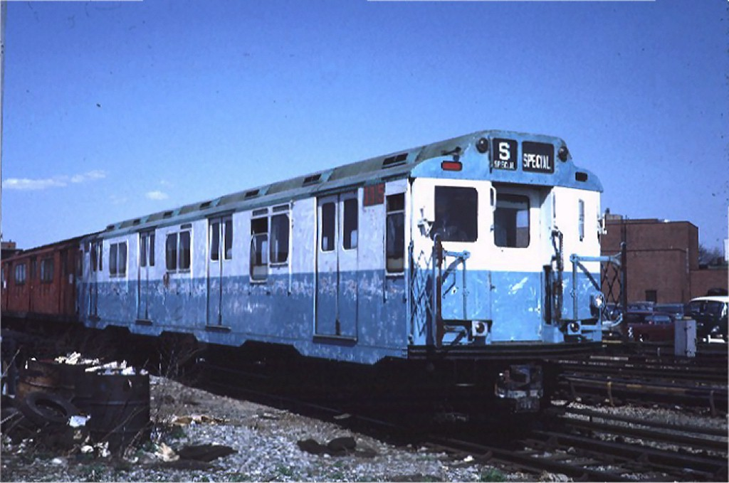 (143k, 1024x679)<br><b>Country:</b> United States<br><b>City:</b> New York<br><b>System:</b> New York City Transit<br><b>Location:</b> Coney Island Yard<br><b>Car:</b> R-10 (American Car & Foundry, 1948) 3015 <br><b>Photo by:</b> Steve Zabel<br><b>Collection of:</b> Joe Testagrose<br><b>Date:</b> 4/23/1971<br><b>Viewed (this week/total):</b> 2 / 3991