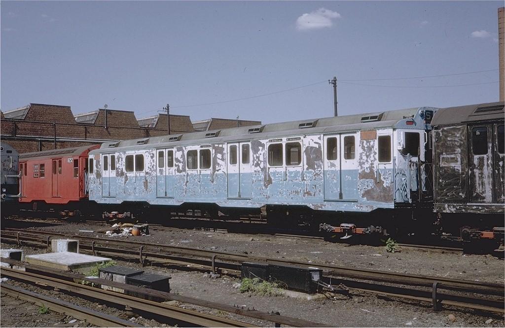 (212k, 1024x666)<br><b>Country:</b> United States<br><b>City:</b> New York<br><b>System:</b> New York City Transit<br><b>Location:</b> Coney Island Yard<br><b>Car:</b> R-10 (American Car & Foundry, 1948) 3050 <br><b>Photo by:</b> Steve Zabel<br><b>Collection of:</b> Joe Testagrose<br><b>Date:</b> 5/17/1971<br><b>Viewed (this week/total):</b> 1 / 3495