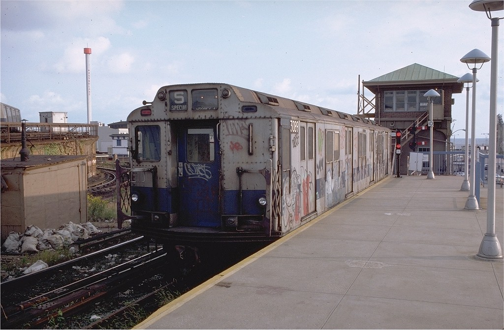 (190k, 1024x671)<br><b>Country:</b> United States<br><b>City:</b> New York<br><b>System:</b> New York City Transit<br><b>Location:</b> Coney Island/Stillwell Avenue<br><b>Car:</b> R-10 (American Car & Foundry, 1948) 3089 <br><b>Photo by:</b> Doug Grotjahn<br><b>Collection of:</b> Joe Testagrose<br><b>Date:</b> 10/7/1979<br><b>Viewed (this week/total):</b> 1 / 6060