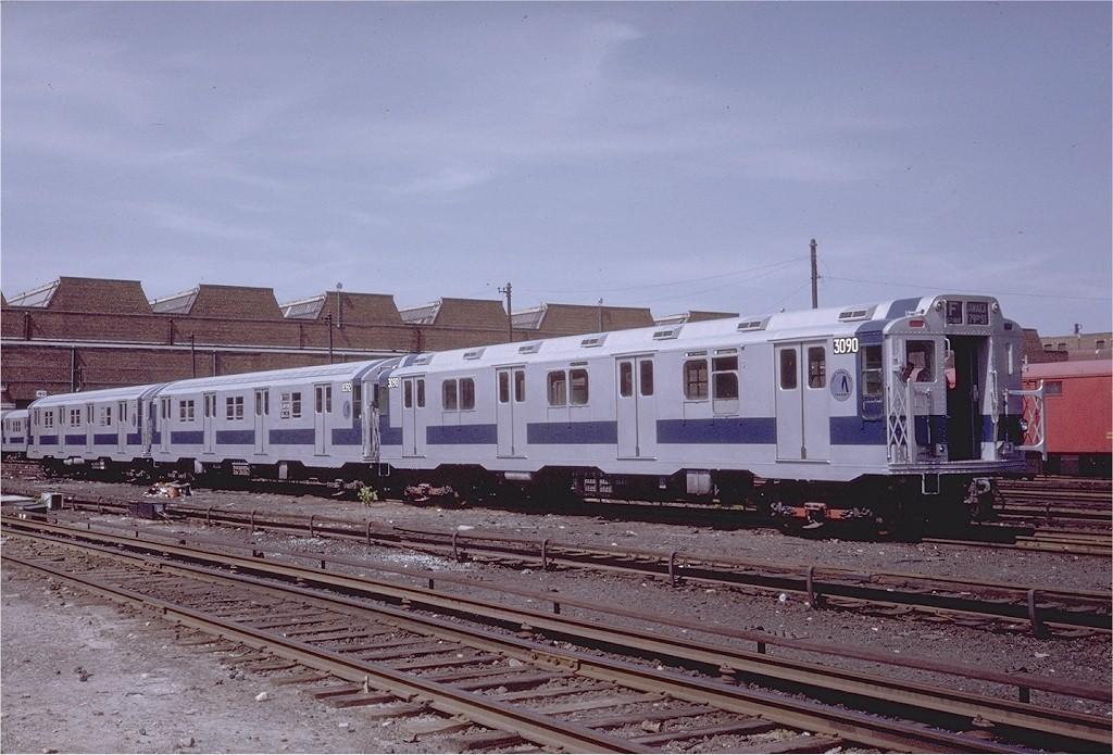 (206k, 1024x695)<br><b>Country:</b> United States<br><b>City:</b> New York<br><b>System:</b> New York City Transit<br><b>Location:</b> Coney Island Yard<br><b>Car:</b> R-10 (American Car & Foundry, 1948) 3090 <br><b>Photo by:</b> Steve Zabel<br><b>Collection of:</b> Joe Testagrose<br><b>Date:</b> 6/7/1971<br><b>Viewed (this week/total):</b> 0 / 3352