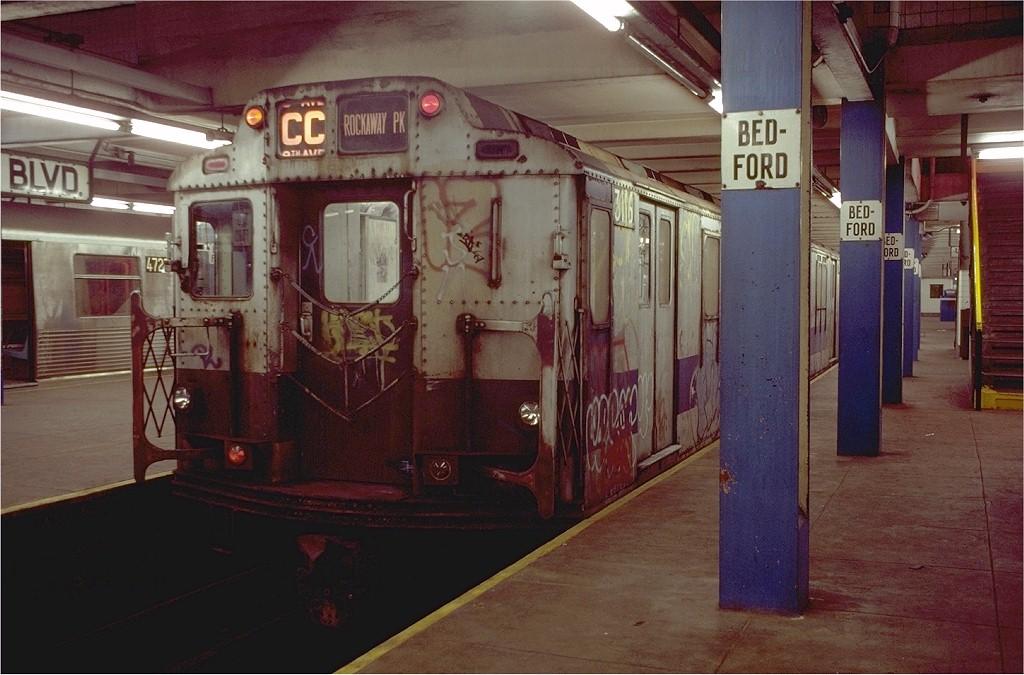 (187k, 1024x675)<br><b>Country:</b> United States<br><b>City:</b> New York<br><b>System:</b> New York City Transit<br><b>Line:</b> IND Concourse Line<br><b>Location:</b> Bedford Park Boulevard <br><b>Route:</b> CC<br><b>Car:</b> R-10 (American Car & Foundry, 1948) 3116 <br><b>Photo by:</b> Doug Grotjahn<br><b>Collection of:</b> Joe Testagrose<br><b>Date:</b> 11/4/1980<br><b>Viewed (this week/total):</b> 5 / 5015