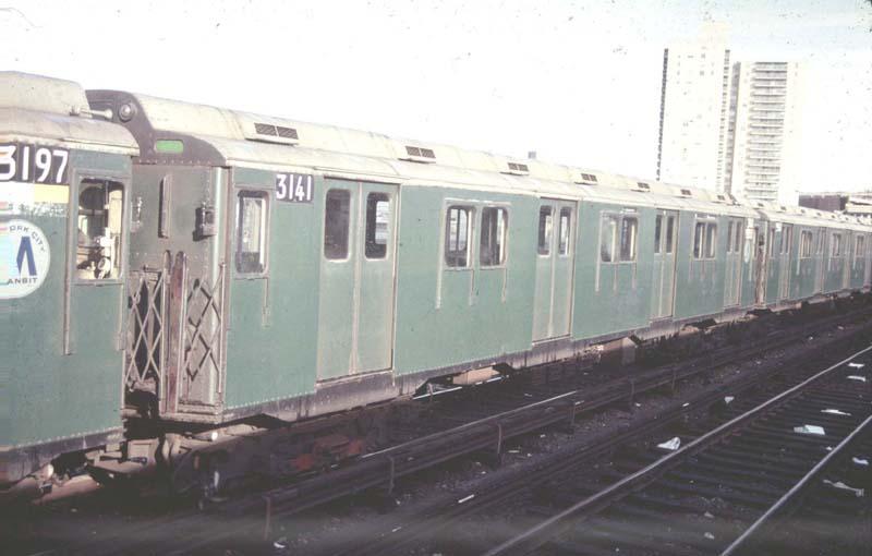 (49k, 800x510)<br><b>Country:</b> United States<br><b>City:</b> New York<br><b>System:</b> New York City Transit<br><b>Location:</b> Concourse Yard<br><b>Car:</b> R-10 (American Car & Foundry, 1948) 3141 <br><b>Photo by:</b> Harold<br><b>Viewed (this week/total):</b> 3 / 4178