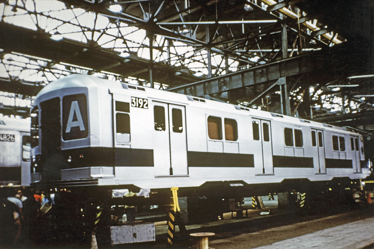 (365k, 1024x683)<br><b>Country:</b> United States<br><b>City:</b> New York<br><b>System:</b> New York City Transit<br><b>Location:</b> Coney Island Shop/Overhaul & Repair Shop<br><b>Car:</b> R-10 (American Car & Foundry, 1948) 3192 <br><b>Collection of:</b> David Pirmann<br><b>Date:</b> 1978<br><b>Notes:</b> Being rebuilt with R42 front end<br><b>Viewed (this week/total):</b> 4 / 15696