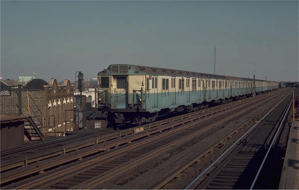 (142k, 1024x652)<br><b>Country:</b> United States<br><b>City:</b> New York<br><b>System:</b> New York City Transit<br><b>Line:</b> IND Fulton Street Line<br><b>Location:</b> 88th Street/Boyd Avenue <br><b>Route:</b> A<br><b>Car:</b> R-10 (American Car & Foundry, 1948) 3201 <br><b>Photo by:</b> Joe Testagrose<br><b>Date:</b> 2/28/1970<br><b>Viewed (this week/total):</b> 1 / 3660