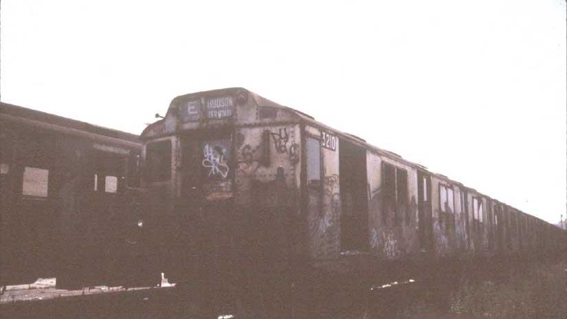 (23k, 825x465)<br><b>Country:</b> United States<br><b>City:</b> New York<br><b>System:</b> New York City Transit<br><b>Line:</b> South Brooklyn Railway<br><b>Location:</b> Cross Harbor Yard - 1st Ave & 44th (BTRR)<br><b>Car:</b> R-10 (American Car & Foundry, 1948) 3210 <br><b>Photo by:</b> Harold<br><b>Date:</b> 6/23/1988<br><b>Viewed (this week/total):</b> 0 / 3448