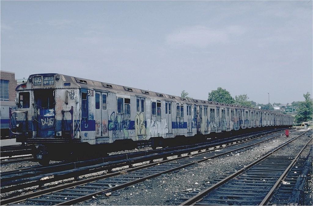 (218k, 1024x675)<br><b>Country:</b> United States<br><b>City:</b> New York<br><b>System:</b> New York City Transit<br><b>Location:</b> Jamaica Yard/Shops<br><b>Car:</b> R-10 (American Car & Foundry, 1948) 3210 <br><b>Photo by:</b> Steve Zabel<br><b>Collection of:</b> Joe Testagrose<br><b>Date:</b> 6/22/1981<br><b>Viewed (this week/total):</b> 1 / 5856