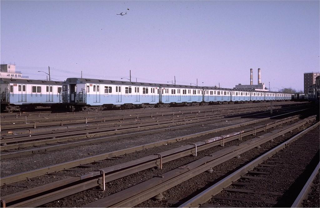 (205k, 1024x667)<br><b>Country:</b> United States<br><b>City:</b> New York<br><b>System:</b> New York City Transit<br><b>Location:</b> Pitkin Yard/Shops<br><b>Car:</b> R-10 (American Car & Foundry, 1948) 3237 <br><b>Photo by:</b> Steve Zabel<br><b>Collection of:</b> Joe Testagrose<br><b>Date:</b> 4/13/1969<br><b>Viewed (this week/total):</b> 11 / 6793