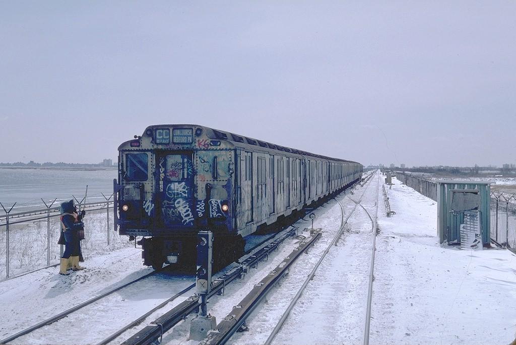 (195k, 1024x685)<br><b>Country:</b> United States<br><b>City:</b> New York<br><b>System:</b> New York City Transit<br><b>Line:</b> IND Rockaway<br><b>Location:</b> Jamaica Bay Crossing<br><b>Route:</b> CC<br><b>Car:</b> R-10 (American Car & Foundry, 1948) 3273 <br><b>Photo by:</b> Steve Zabel<br><b>Collection of:</b> Joe Testagrose<br><b>Date:</b> 4/7/1982<br><b>Viewed (this week/total):</b> 0 / 7780