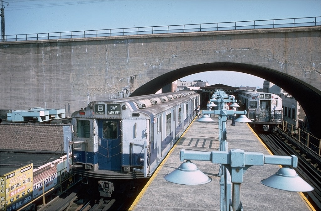 (236k, 1024x673)<br><b>Country:</b> United States<br><b>City:</b> New York<br><b>System:</b> New York City Transit<br><b>Line:</b> BMT Astoria Line<br><b>Location:</b> Ditmars Boulevard <br><b>Route:</b> Fan Trip<br><b>Car:</b> R-10 (American Car & Foundry, 1948) 3298 <br><b>Photo by:</b> Doug Grotjahn<br><b>Collection of:</b> Joe Testagrose<br><b>Date:</b> 10/23/1976<br><b>Viewed (this week/total):</b> 7 / 6750