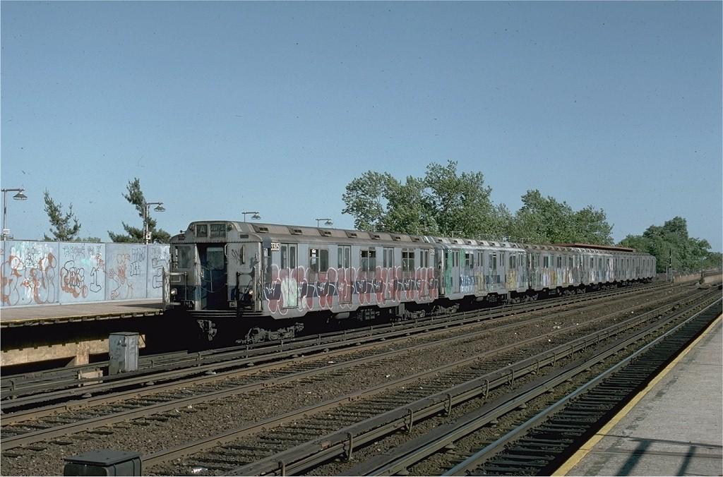 (213k, 1024x676)<br><b>Country:</b> United States<br><b>City:</b> New York<br><b>System:</b> New York City Transit<br><b>Line:</b> IND Rockaway<br><b>Location:</b> Aqueduct/North Conduit Avenue <br><b>Route:</b> A<br><b>Car:</b> R-10 (American Car & Foundry, 1948) 3305 <br><b>Collection of:</b> Joe Testagrose<br><b>Date:</b> 6/4/1977<br><b>Viewed (this week/total):</b> 0 / 3938