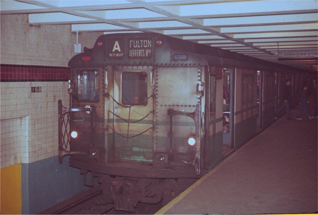 (152k, 1024x691)<br><b>Country:</b> United States<br><b>City:</b> New York<br><b>System:</b> New York City Transit<br><b>Line:</b> IND 8th Avenue Line<br><b>Location:</b> 168th Street <br><b>Route:</b> A<br><b>Car:</b> R-10 (American Car & Foundry, 1948) 3306 <br><b>Collection of:</b> Joe Testagrose<br><b>Viewed (this week/total):</b> 1 / 4633