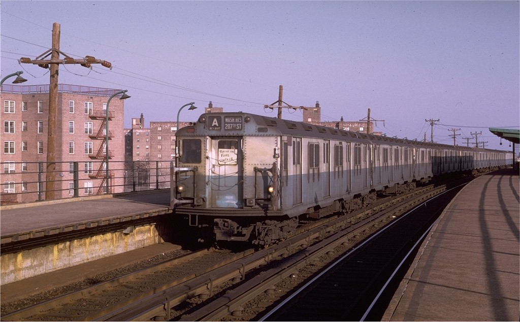 (181k, 1024x635)<br><b>Country:</b> United States<br><b>City:</b> New York<br><b>System:</b> New York City Transit<br><b>Line:</b> IND Rockaway<br><b>Location:</b> Beach 60th Street/Straiton <br><b>Route:</b> A<br><b>Car:</b> R-10 (American Car & Foundry, 1948) 3318 <br><b>Photo by:</b> Joe Testagrose<br><b>Date:</b> 1/31/1970<br><b>Viewed (this week/total):</b> 0 / 5203