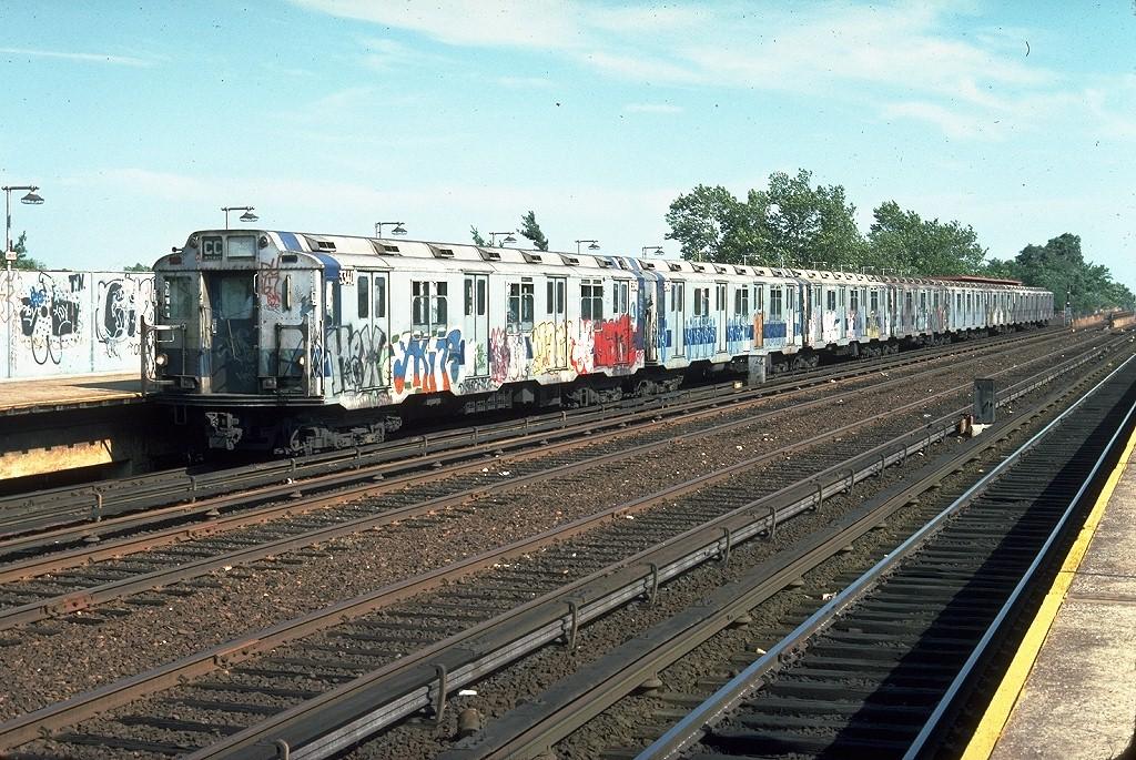 (286k, 1024x685)<br><b>Country:</b> United States<br><b>City:</b> New York<br><b>System:</b> New York City Transit<br><b>Line:</b> IND Rockaway<br><b>Location:</b> Aqueduct/North Conduit Avenue <br><b>Route:</b> CC<br><b>Car:</b> R-10 (American Car & Foundry, 1948) 3340 <br><b>Photo by:</b> Doug Grotjahn<br><b>Collection of:</b> Joe Testagrose<br><b>Date:</b> 6/29/1977<br><b>Viewed (this week/total):</b> 1 / 5935