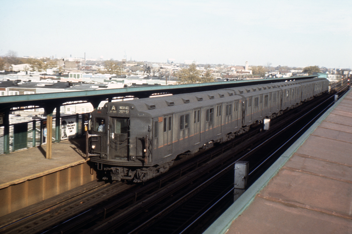 (289k, 1024x683)<br><b>Country:</b> United States<br><b>City:</b> New York<br><b>System:</b> New York City Transit<br><b>Line:</b> IND Fulton Street Line<br><b>Location:</b> 80th Street/Hudson Street <br><b>Route:</b> A<br><b>Car:</b> R-10 (American Car & Foundry, 1948) 3106 <br><b>Collection of:</b> David Pirmann<br><b>Viewed (this week/total):</b> 0 / 5096