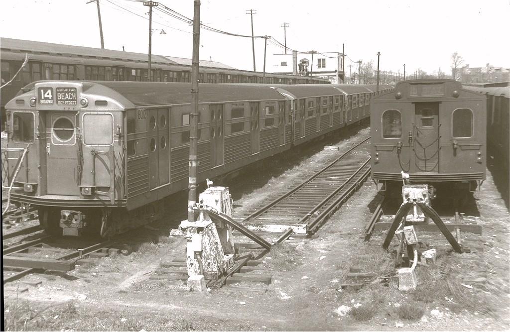 (209k, 1024x667)<br><b>Country:</b> United States<br><b>City:</b> New York<br><b>System:</b> New York City Transit<br><b>Location:</b> Rockaway Parkway (Canarsie) Yard<br><b>Car:</b> R-11 (Budd, 1949) 8012 <br><b>Collection of:</b> Joe Testagrose<br><b>Viewed (this week/total):</b> 3 / 3882