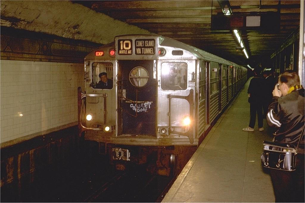 (226k, 1024x684)<br><b>Country:</b> United States<br><b>City:</b> New York<br><b>System:</b> New York City Transit<br><b>Line:</b> BMT 4th Avenue<br><b>Location:</b> 36th Street <br><b>Route:</b> Fan Trip<br><b>Car:</b> R-11 (Budd, 1949) 8012 <br><b>Photo by:</b> Steve Zabel<br><b>Collection of:</b> Joe Testagrose<br><b>Date:</b> 10/21/1972<br><b>Viewed (this week/total):</b> 0 / 6133