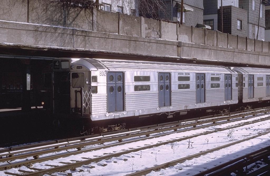 (234k, 1024x666)<br><b>Country:</b> United States<br><b>City:</b> New York<br><b>System:</b> New York City Transit<br><b>Line:</b> BMT Sea Beach Line<br><b>Location:</b> Kings Highway <br><b>Route:</b> N<br><b>Car:</b> R-11 (Budd, 1949) 8012 <br><b>Photo by:</b> Joe Testagrose<br><b>Date:</b> 1/24/1970<br><b>Viewed (this week/total):</b> 0 / 5191