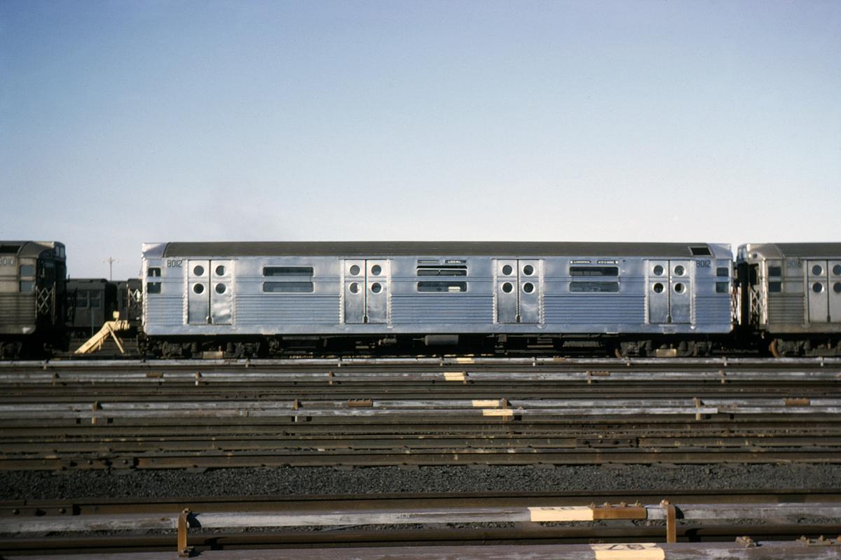 (457k, 1024x683)<br><b>Country:</b> United States<br><b>City:</b> New York<br><b>System:</b> New York City Transit<br><b>Location:</b> Coney Island Yard<br><b>Car:</b> R-11 (Budd, 1949) 8012 <br><b>Collection of:</b> David Pirmann<br><b>Date:</b> 2/9/1966<br><b>Viewed (this week/total):</b> 2 / 5510