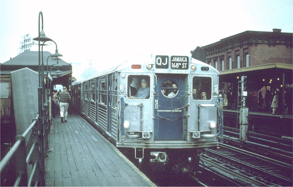 (207k, 1024x653)<br><b>Country:</b> United States<br><b>City:</b> New York<br><b>System:</b> New York City Transit<br><b>Line:</b> BMT Nassau Street/Jamaica Line<br><b>Location:</b> Marcy Avenue <br><b>Route:</b> Fan Trip<br><b>Car:</b> R-11 (Budd, 1949)  <br><b>Collection of:</b> Joe Testagrose<br><b>Date:</b> 11/18/1967<br><b>Viewed (this week/total):</b> 3 / 5022