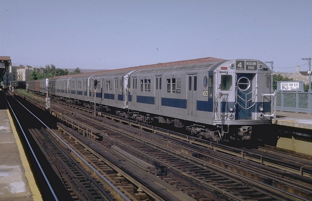 (204k, 1024x661)<br><b>Country:</b> United States<br><b>City:</b> New York<br><b>System:</b> New York City Transit<br><b>Line:</b> IRT Woodlawn Line<br><b>Location:</b> Bedford Park Boulevard <br><b>Route:</b> 4<br><b>Car:</b> R-17 (St. Louis, 1955-56) 6623 <br><b>Photo by:</b> Joe Testagrose<br><b>Date:</b> 6/13/1970<br><b>Viewed (this week/total):</b> 7 / 2705