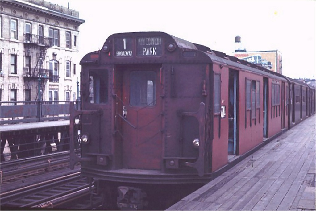 (126k, 1024x684)<br><b>Country:</b> United States<br><b>City:</b> New York<br><b>System:</b> New York City Transit<br><b>Line:</b> IRT West Side Line<br><b>Location:</b> 125th Street <br><b>Route:</b> 1<br><b>Car:</b> R-12 (American Car & Foundry, 1948) 5714 <br><b>Photo by:</b> Joe Testagrose<br><b>Date:</b> 4/4/1970<br><b>Viewed (this week/total):</b> 0 / 3785