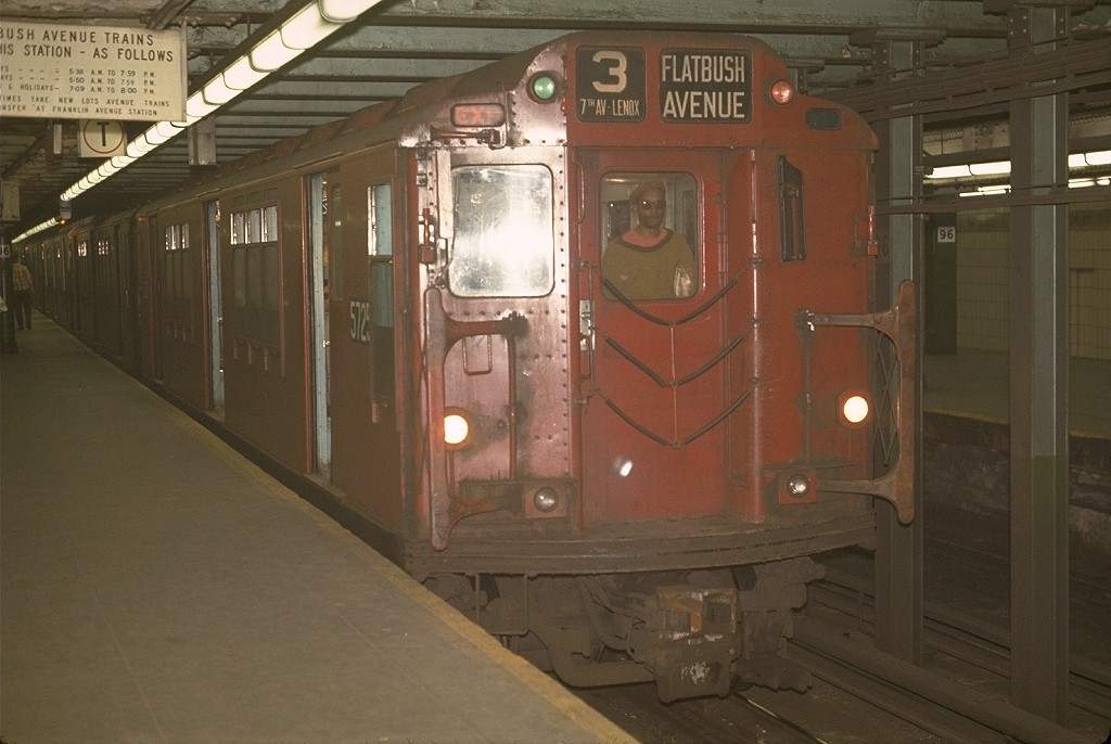 (161k, 1024x686)<br><b>Country:</b> United States<br><b>City:</b> New York<br><b>System:</b> New York City Transit<br><b>Line:</b> IRT West Side Line<br><b>Location:</b> 96th Street <br><b>Route:</b> 3<br><b>Car:</b> R-12 (American Car & Foundry, 1948) 5725 <br><b>Photo by:</b> Joe Testagrose<br><b>Date:</b> 5/2/1970<br><b>Viewed (this week/total):</b> 3 / 3513