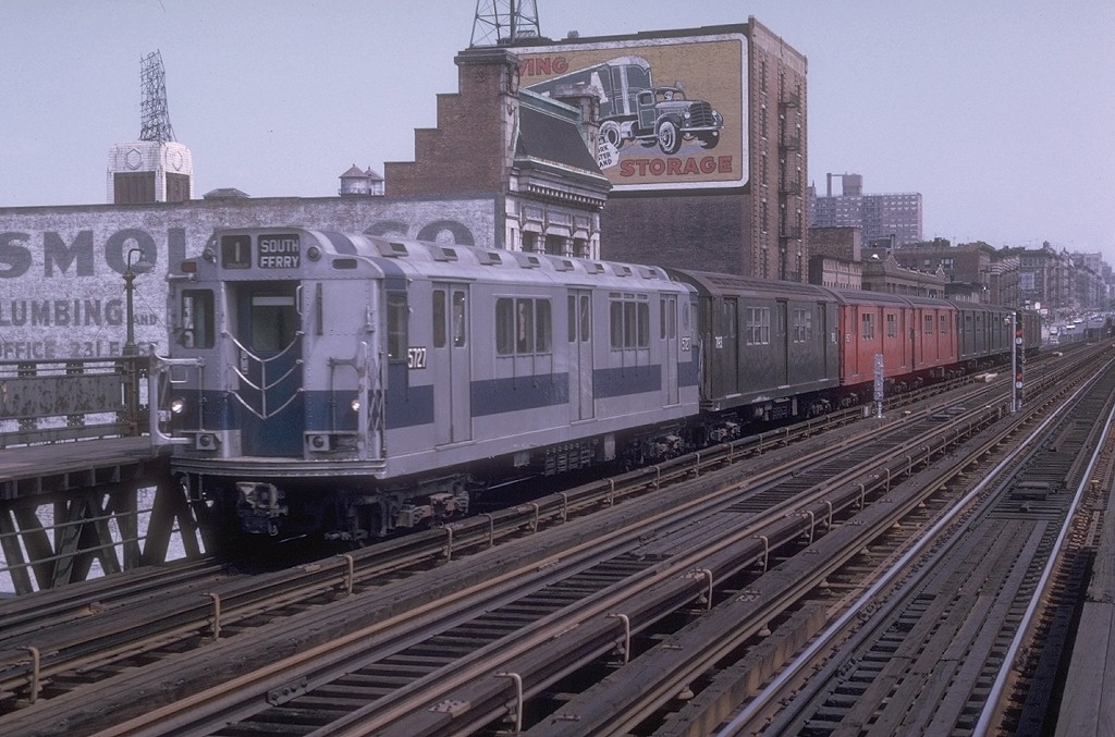 (205k, 1024x677)<br><b>Country:</b> United States<br><b>City:</b> New York<br><b>System:</b> New York City Transit<br><b>Line:</b> IRT West Side Line<br><b>Location:</b> 125th Street <br><b>Route:</b> 1<br><b>Car:</b> R-12 (American Car & Foundry, 1948) 5727 <br><b>Photo by:</b> Joe Testagrose<br><b>Date:</b> 2/24/1973<br><b>Viewed (this week/total):</b> 4 / 4694